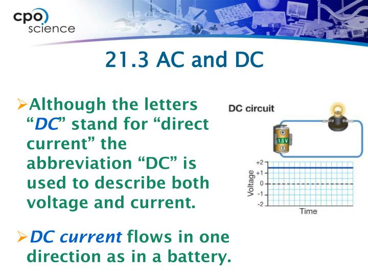 21.3 AC and DC