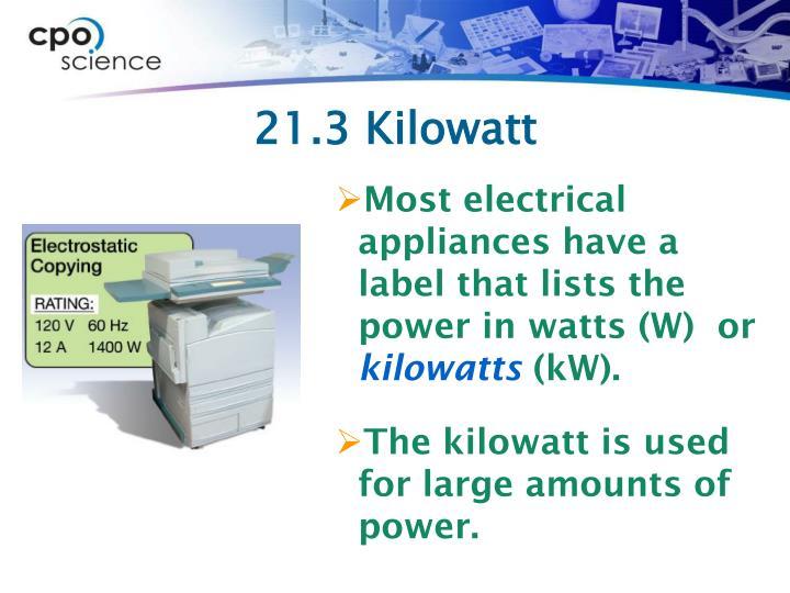 21.3 Kilowatt
