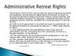 administrative retreat rights1