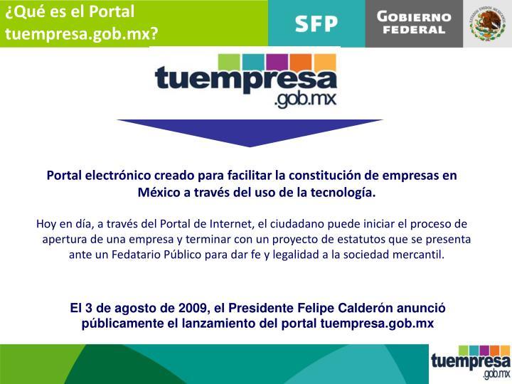 ¿Qué es el Portal tuempresa.gob.mx?