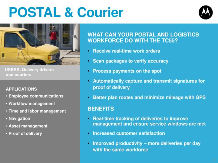 POSTAL & Courier