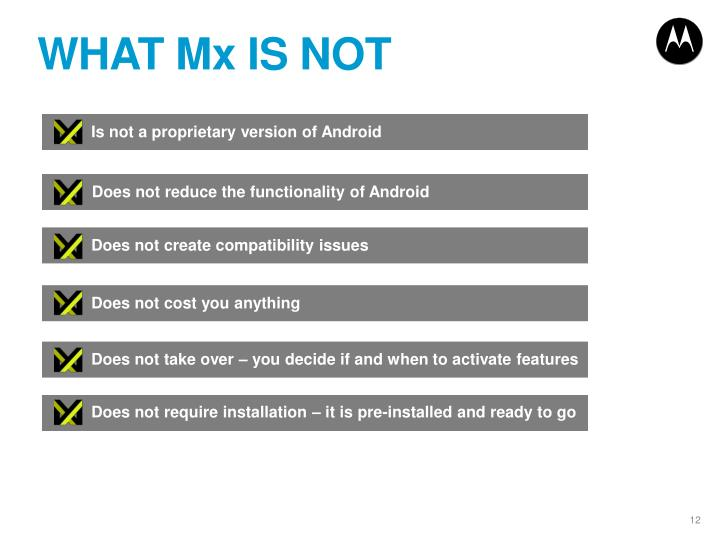 WHAT Mx IS NOT