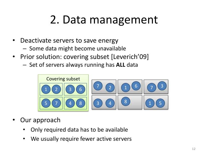 2. Data management