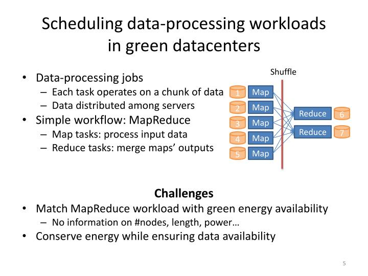 Scheduling data-processing workloads