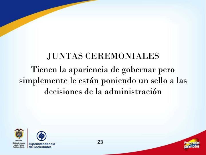 JUNTAS CEREMONIALES