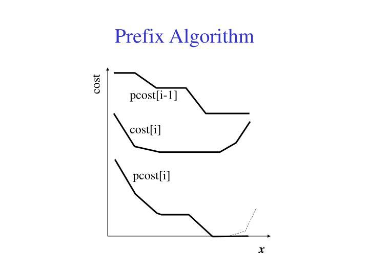 Prefix Algorithm