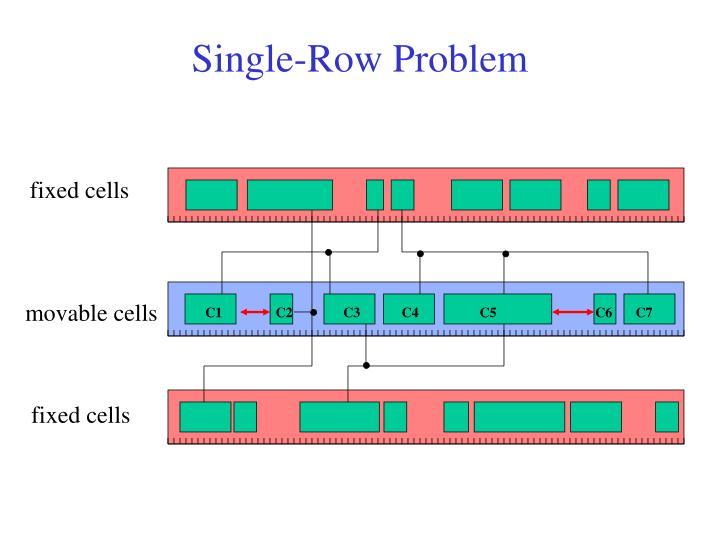 Single-Row Problem
