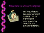 imparfait vs pass compos