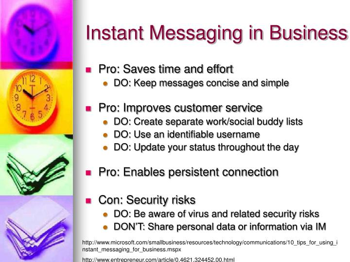 Instant Messaging in Business
