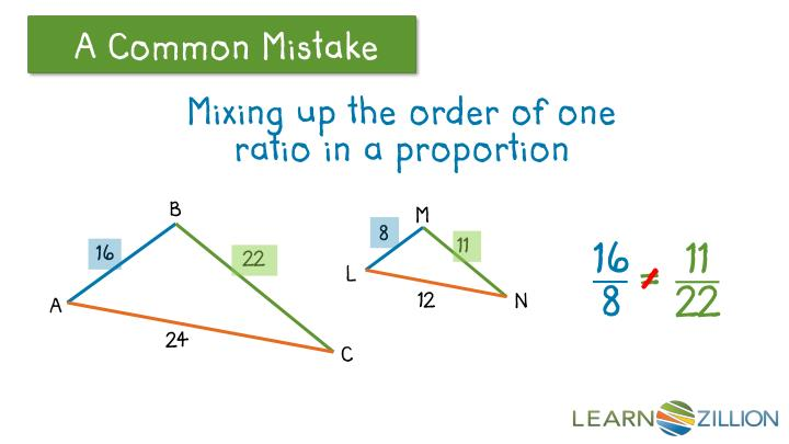 Mixing up the order of one ratio in a proportion