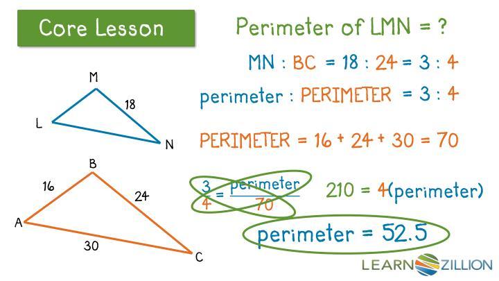 Perimeter of LMN = ?
