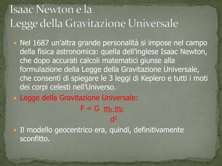 Isaac Newton e la