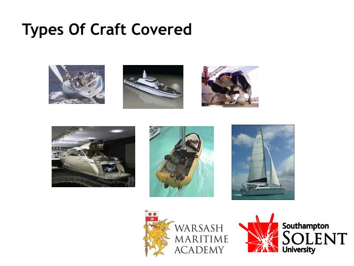 Types Of Craft Covered