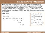 example particle movement