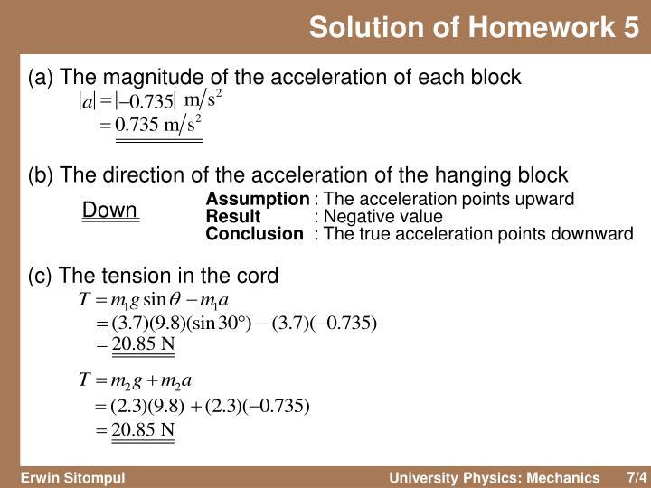 Solution of Homework 5