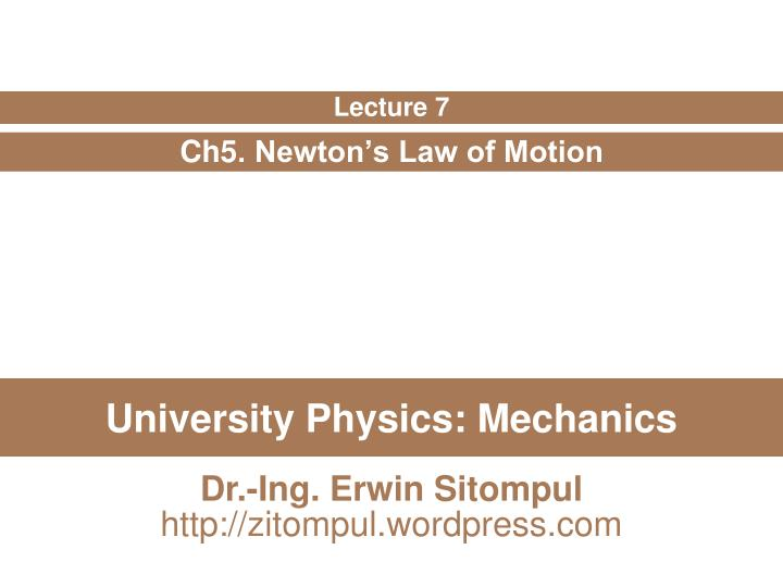 university physics mechanics