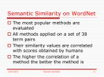 semantic similarity on wordnet