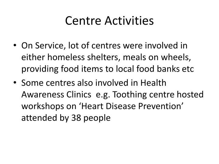Centre Activities