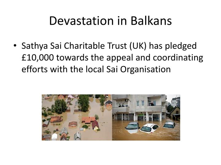 Devastation in Balkans