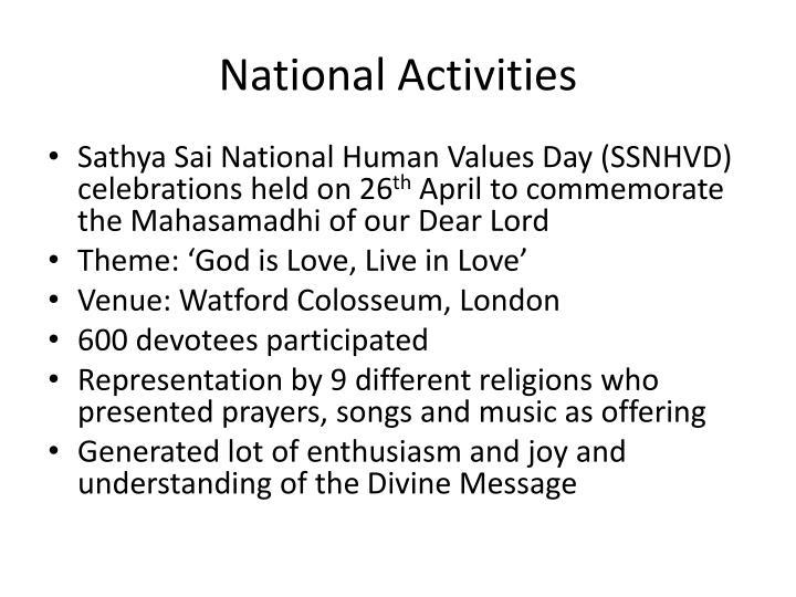 National Activities