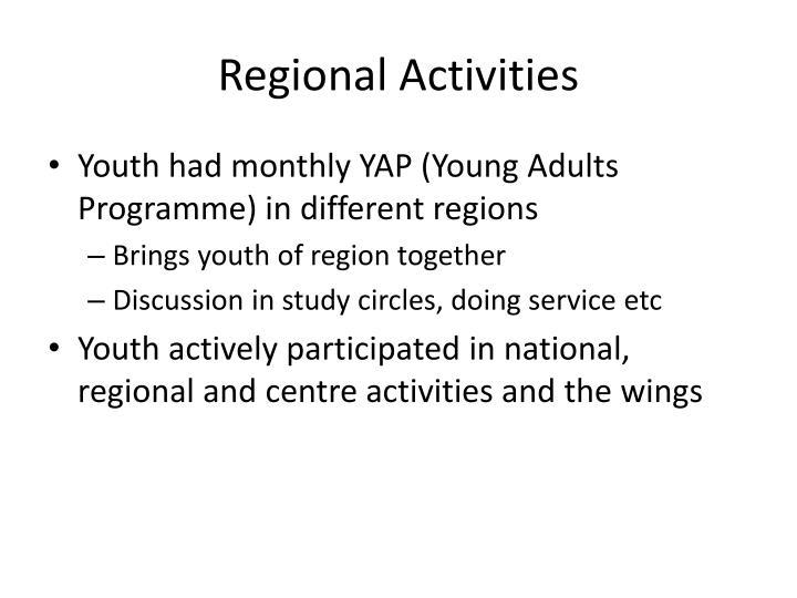 Regional Activities