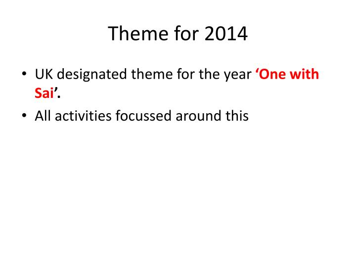 Theme for 2014