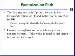 factorization path1