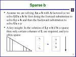 sparse b