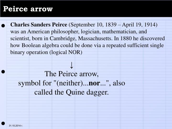 Peirce arrow
