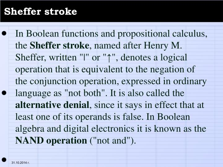 Sheffer stroke