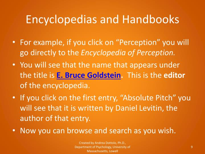 Encyclopedias and Handbooks