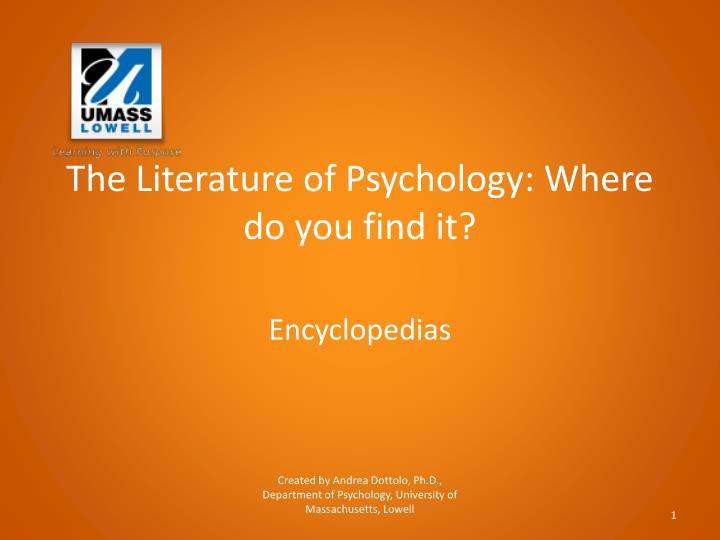 The literature of psychology where do you find it