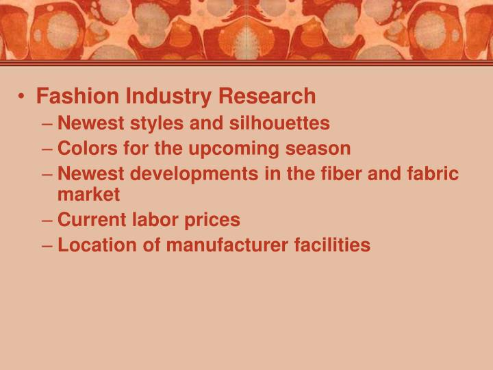 Fashion Industry Research
