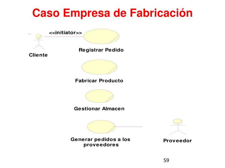 Caso Empresa de Fabricación