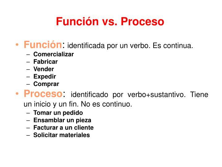 Función vs. Proceso