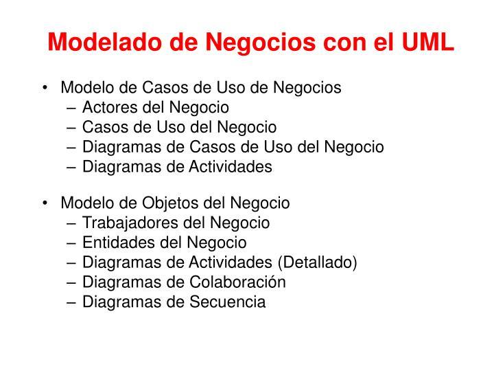 Modelado de Negocios con el UML