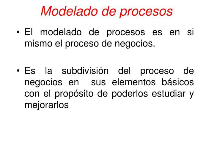 Modelado de procesos