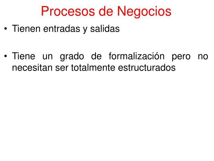 Procesos de Negocios