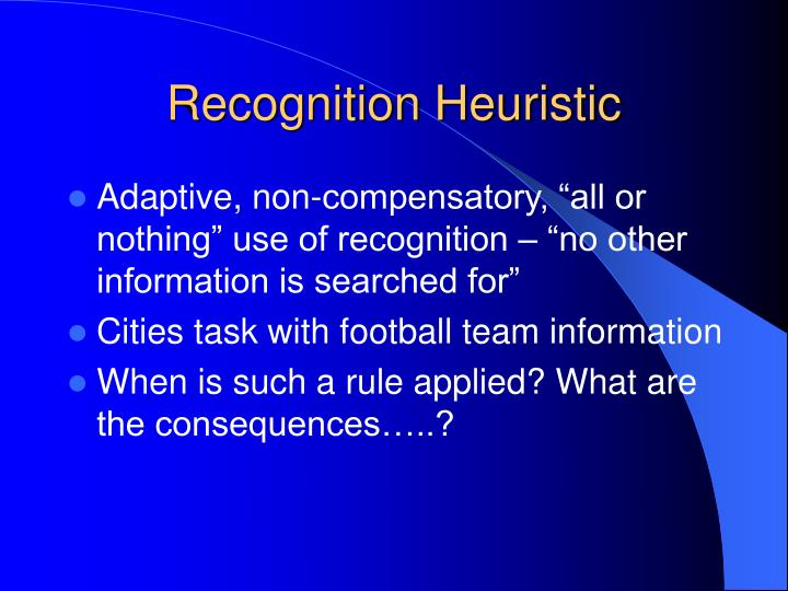 Recognition Heuristic