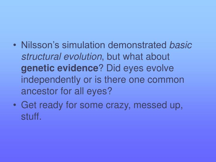 Nilsson's simulation demonstrated