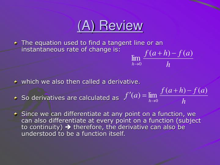 (A) Review