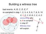 building a witness tree7