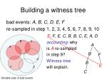 building a witness tree8