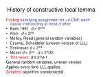 history of constructive local lemma1