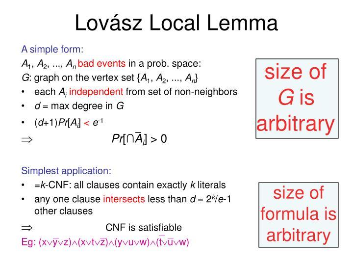 Lovász Local Lemma