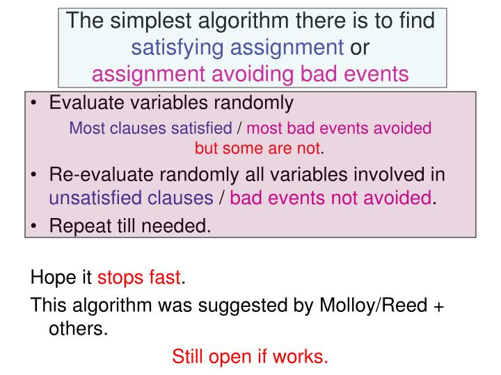 The simplest algorithm there is to find