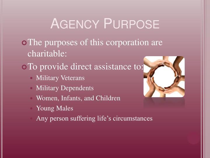Agency Purpose