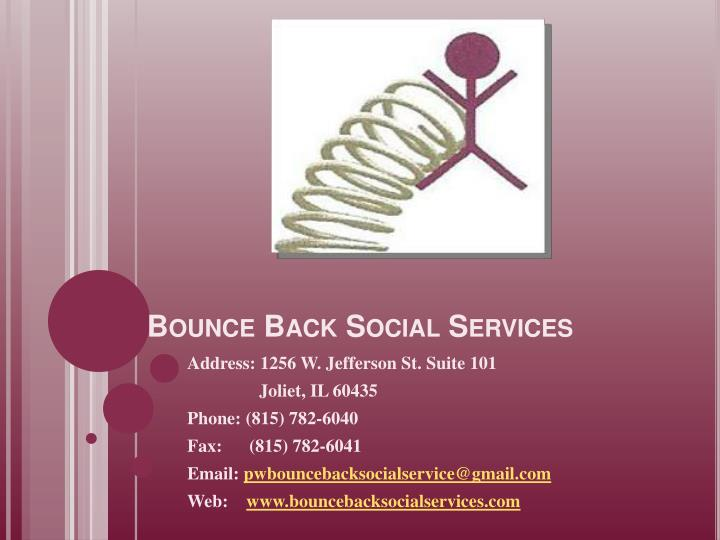 Bounce back social services