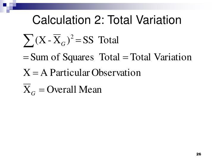Calculation 2: Total Variation