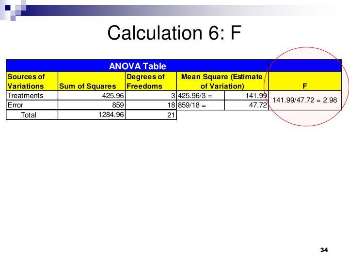 Calculation 6: F